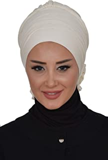 Instant Turban Cotton Scarf Head Wrap With Crosswise Combed Style