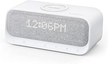 بلندگوهای بلوتوث Soundcore Wakey طراحی شده توسط آنکر با ساعت زنگ دار ، صدای استریو ، رادیو FM ، نویز سفید ، شارژر بی سیم Qi با شارژ 7.5W برای آیفون و 10W برای سامسونگ