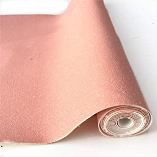"""ZAIONE 8"""" x 53"""" (21cm x 135cm) Roll Sparkly Superfine Glitter Vinyl Fabric Fine Glitter PU Leather Canvas Back Material for Shoes Bag Sewing Patchwork DIY Bow Craft Applique(Baby Pink)"""