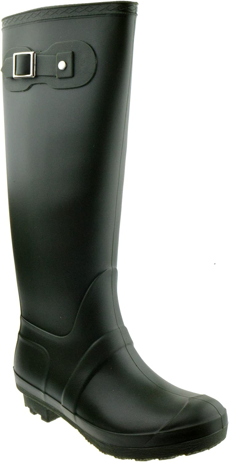 Forever Valentina 02 Round Nippon regular agency Closed Cheap SALE Start Toe ON Rubber RAIN Boots Slip