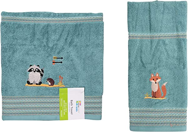 Mainstays Kids Woodland Creatures Bath Towel Bundle With Mainstays Kids Woodland Creatures Hand Towel