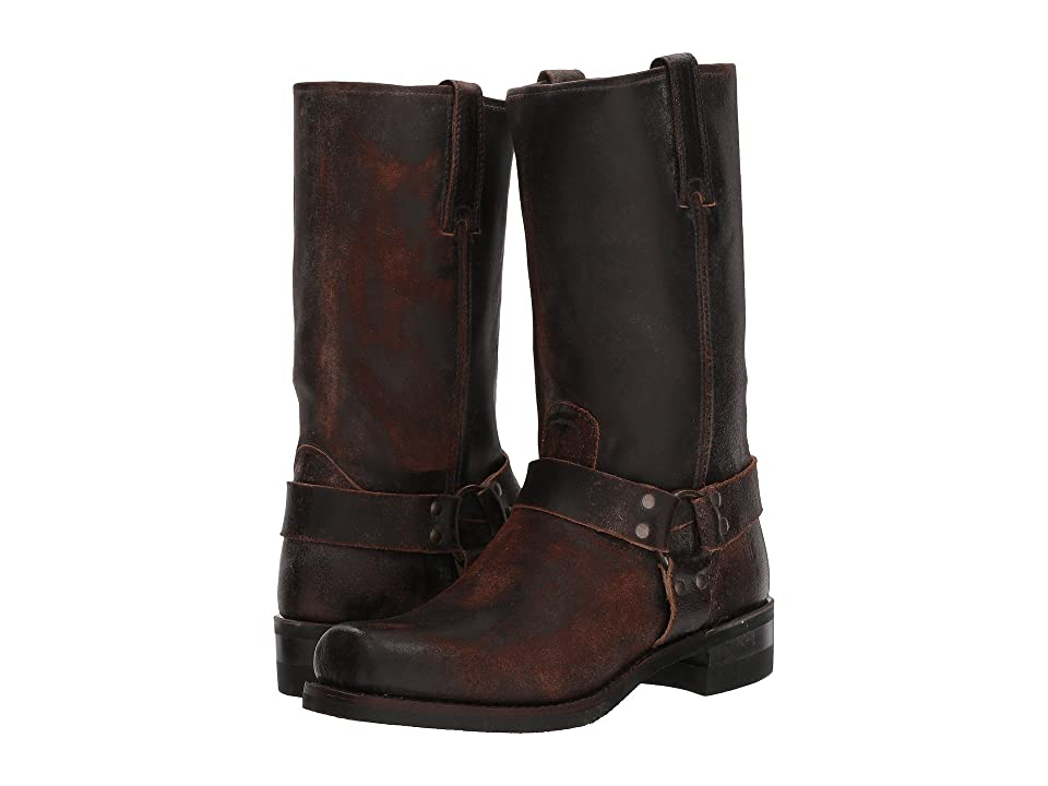 Frye Harness 12R (Chocolate Waxed Suede) Cowboy Boots