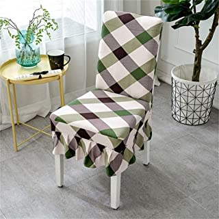 ANOSORA Dining Chair Slipcover Modern Leaf Print Stretch Spandex Elastic Wedding Banquet Seat Cover