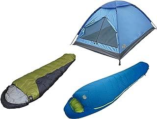 Alpinizmo High Peak USA Summit 20 + TR 0 Sleeping Bag with Monodome 3 Tent Combo Set, One Size, Blue/Green