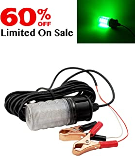 Suxing IP68 12V LED Underwater Sinking Submersible Night Fishing Light Crappie Squid Boat Shad Shrimp Fish Finder Lamp 5m Cord