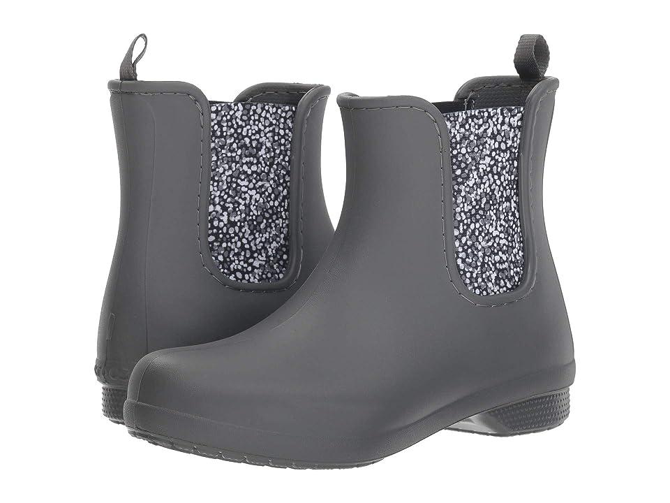 Crocs Freesail Chelsea Boot (Slate Grey/Dots) Women