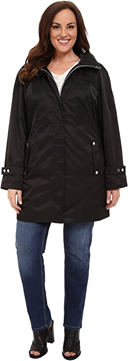 Calvin Klein Plus - Plus Size Long Packable Anorak