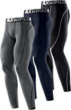 SILKWORLD Men's Compression Pants Cool Dry Baselayer Workout Running Tight Leggings