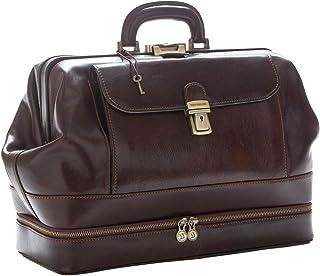 D&D - Doctor's Bag Borsa Medico stile classico con vano Portastrumenti - Made in Italy (Testa di Moro)