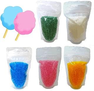 わたがし用ザラメ 楽しいわたあめ カラーざらめ 色砂糖 5色セット×各200g
