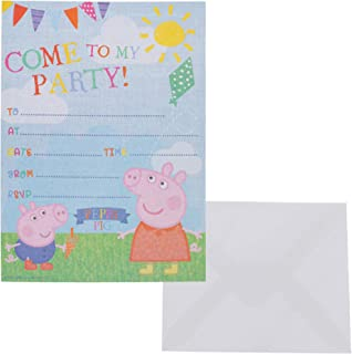Peppa Pig Pack Of 20 Party Invitations With Envelopes