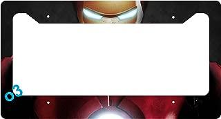 Iron Man Face Helmet Stop License Plate Frame Alumminum Car Auto (a)