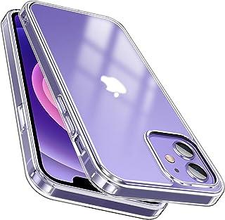 McDuLL iPhone 12用 ケース iPhone 12 Pro 用 ケース 6.1インチ 半クリア マット感 耐衝撃 PC+TPU黄変防止 指紋防止 透明 薄型ワイヤレス充電対応 全面保護 アイフォン12 ケース カバー アイフォン12...