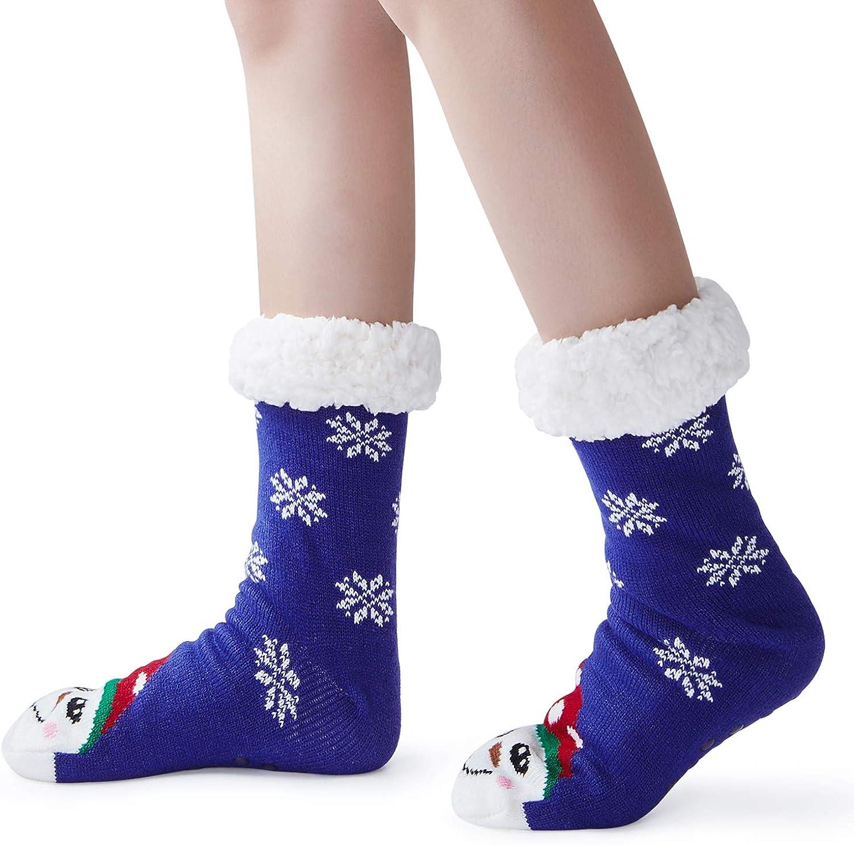 1 Paio Freshhoodies Calze A Pantofola Donne Uomo Di Calzini Calzini Caldi Calzini Fuzzy Antiscivolo Calzini Foderati In Pile Calzini Di Lana Di Natale