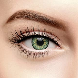 Coloured Contacts Lentillas Verdes Tri Tono Naturales De Un Día (10 por Pack)