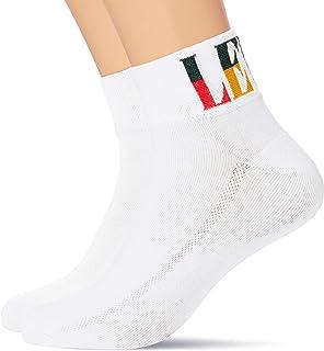 Levi's Split Tall Logo Unisex Mid Cut Socks (2 Pack) Sneaker (Pack of 2)