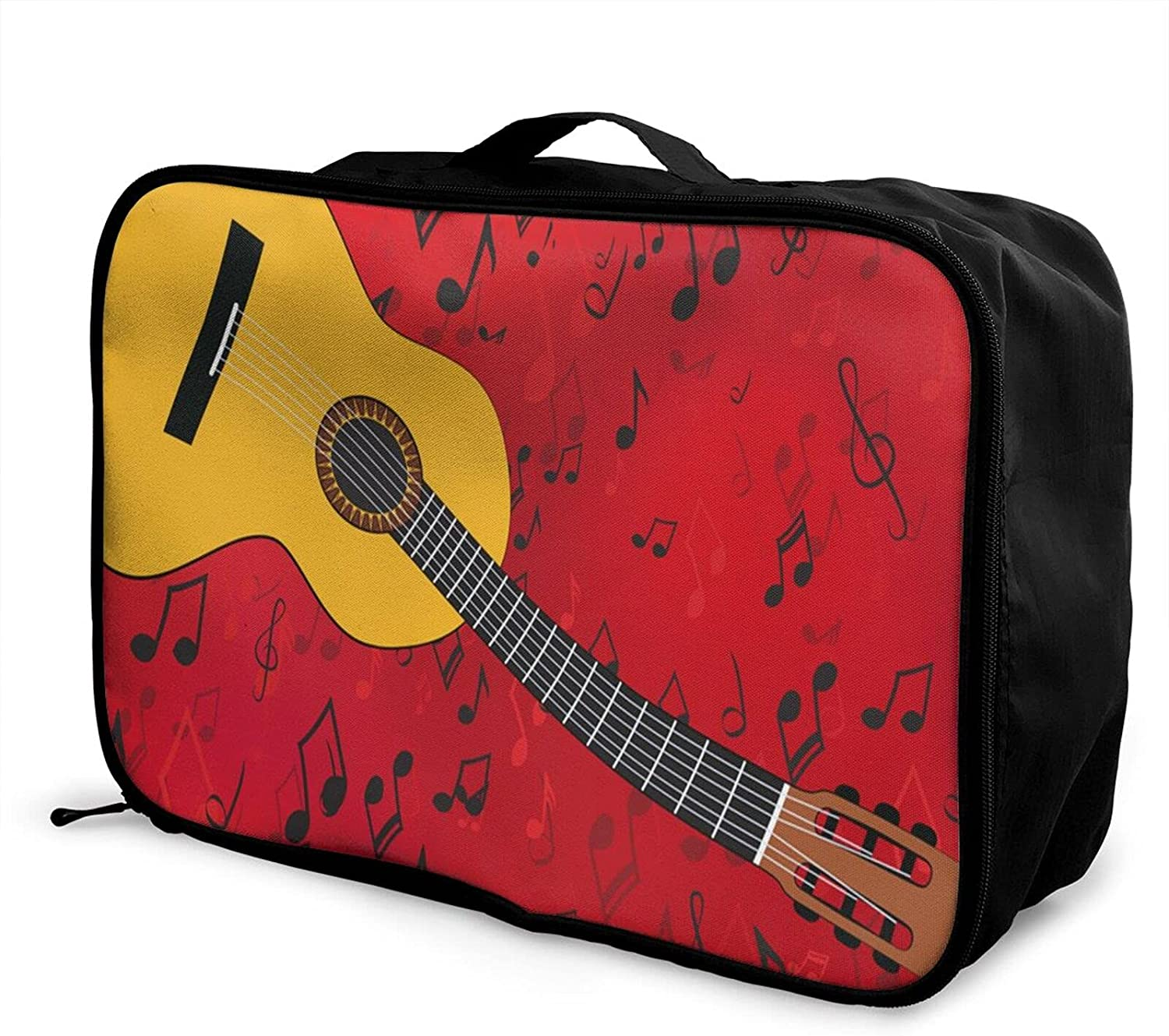 Foldable Travel Bag Kansas City Mall Tote Complete Free Shipping Music Carry-On Singing Red Guitar