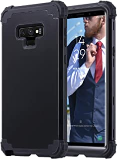 ULAK Galaxy Note 9 Case Heavy Duty Protection Hybrid Soft Silicone Hard PC Rugged Bumper Shockproof Anti Slip Protective Cover for Samsung Galaxy Note 9, Black