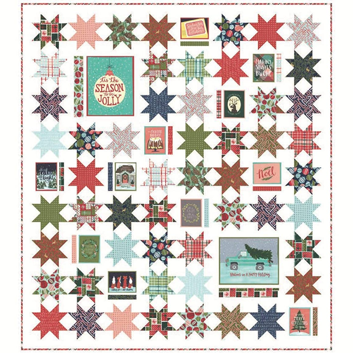 Moda Fabrics to Be Jolly Quilt Kit