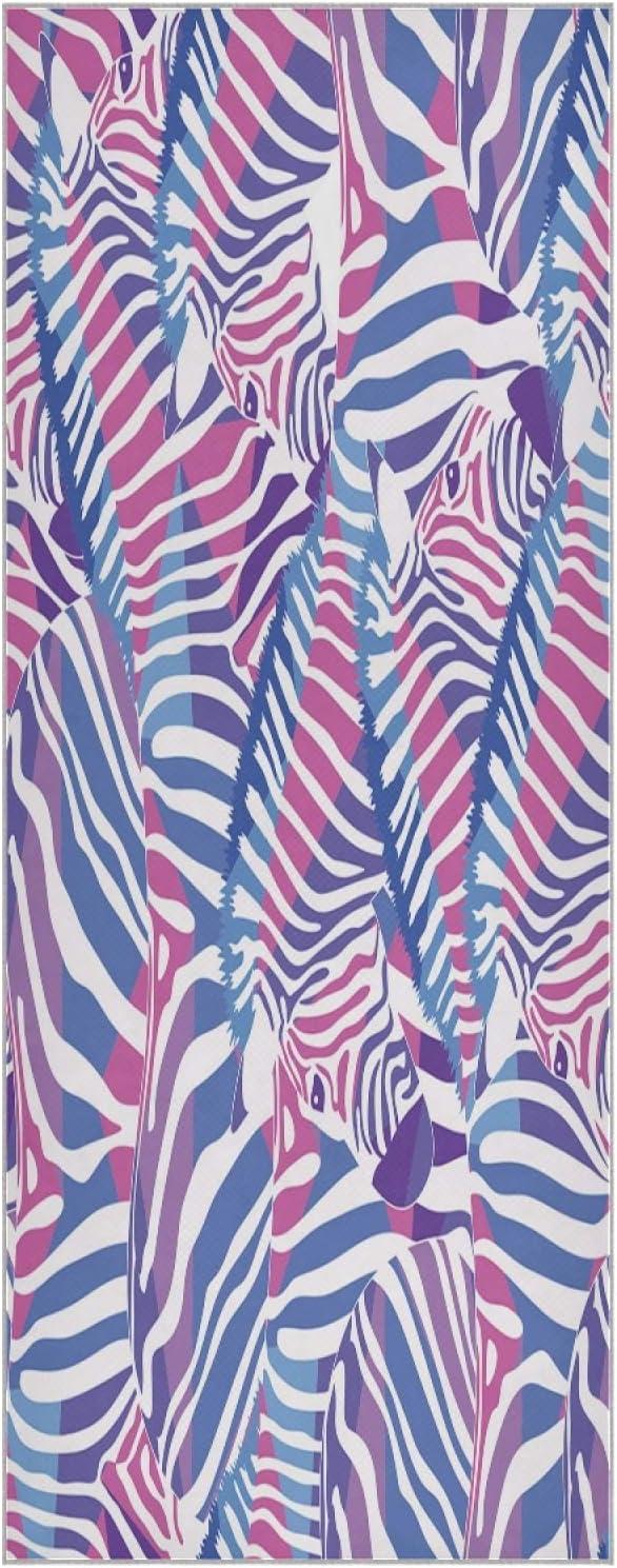 73 Classic Inch Yoga Mat Towel Watercolor Pattern Purple Slip Manufacturer direct delivery Zebra Non