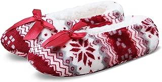 Women's Cozy Warm Lined Fuzzy Slipper Socks Indoor Booties with Non Slip Grippers