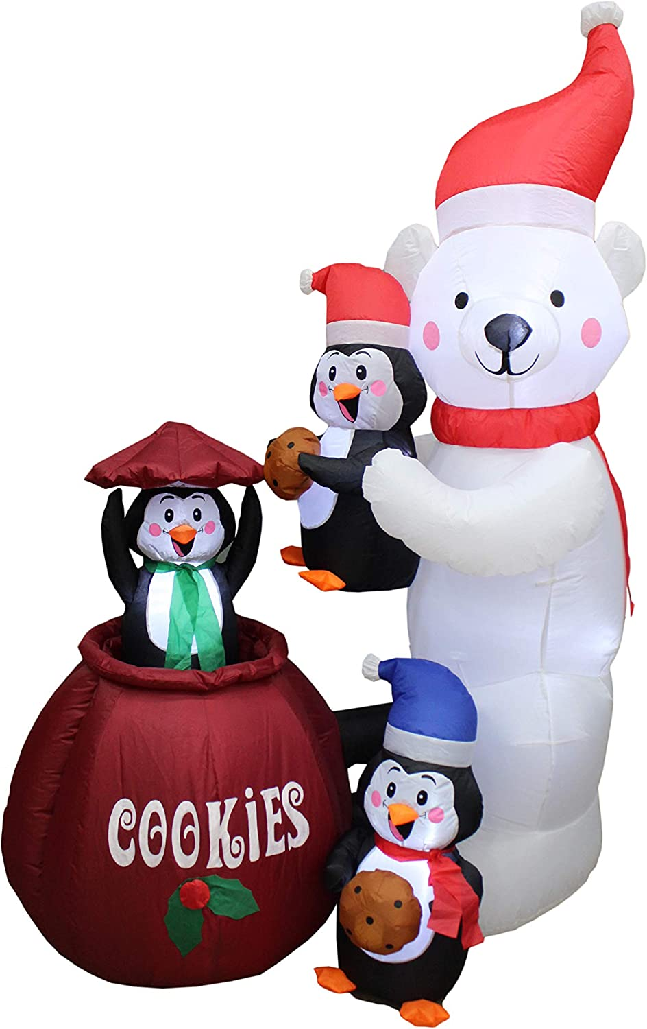 Animated 6 Foot Tall Christmas Max 59% OFF Outlet SALE Inflatable Three Polar Bear P and