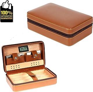 Hong Jie Yuan Zigarrenbox Zigarrenbefeuchter aus spanischem Zedernholz mit konstanter Luftfeuchtigkeit Kann mit 120 Zigarren mit Hygrometer Gr/ö/ße 40x27,5x15,7 cm platziert Werden Glas Humidor