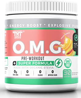 Sponsored Ad - OMG Preworkout Drink for Men and Women with Electrolytes, Organic Caffeine and Organic Stevia| Scientifical...