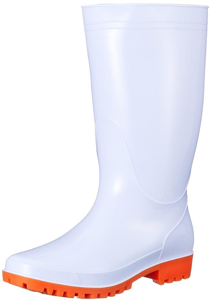 時々時々調和ソーセージ衛生長靴 耐油 抗菌 防臭 PVC 厨房 食品工場 T8881 メンズ WHITE