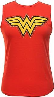 Wet Seal Women's Studded Wonder Woman Muscle Tank