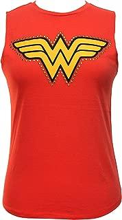 Women's Studded Wonder Woman Muscle Tank