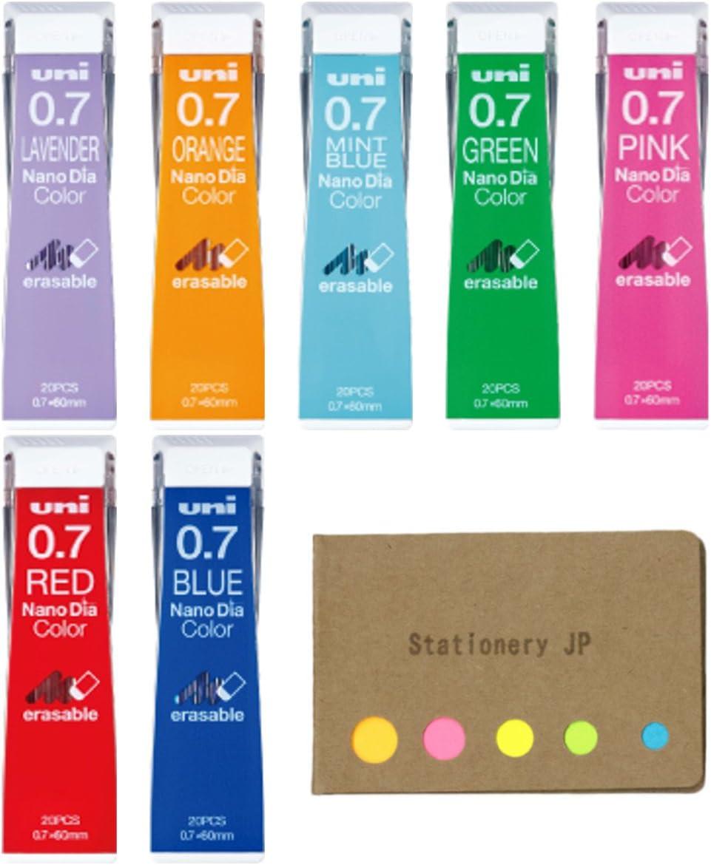 Max 67% OFF Uni NanoDia Color Mechanical Pencil 0.7mm 7 National products Leads Colors 7-pa