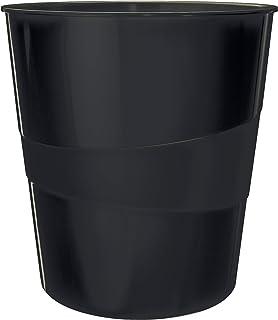 Leitz Corbeille à Papier, Capacité 15 L, 100% Recyclable, Neutre pour le Climat, Certifié Blue Angel, Recycle, Noir, 53280095
