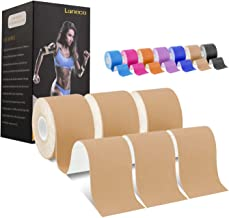 Laneco Kinesiology Tape (19.7ft Uncut Per Roll, 3 Roll), Latex Free Physio Tape, Breathable, Water Resistant Sports Tape f...