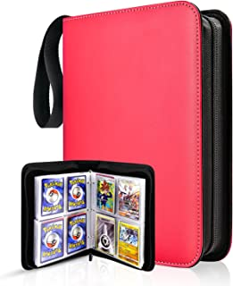 TONESPAC 400 Pockets Card Binder Carrying Holder Compatible with Pokemon Trading Cards Binder, for PTCG TCG, Baseball Card...