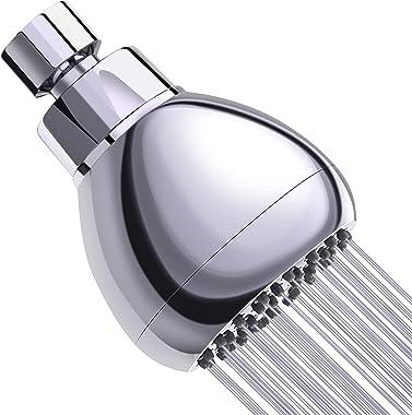 3 Inch High Pressure Shower Head - Best Pressure Boosting, Wall Mount, Bathroom Showerhead for Low Flow Showers