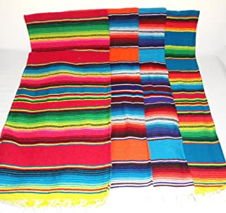 Oro Import Assorted Colors Sarape Serape Mexican Blanket, Saltillo Southwestern Afghan 39