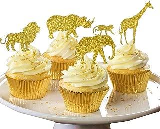 Best gold safari animal cake toppers Reviews