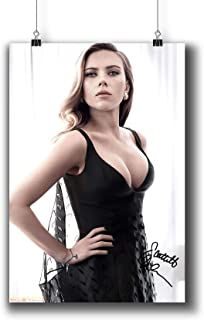 Scarlett Johansson Actress Movie Photo Poster Prints 249-002 Reprint Signed,Wall Art Decor for Dorm Bedroom Living Room (A3|11x17inch|29x42cm)