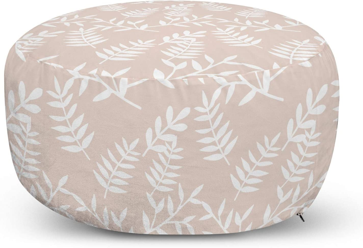 Indianapolis Mall Inventory cleanup selling sale Lunarable Plant Ottoman Pouf Soft Colored Repet Pastel Abstract