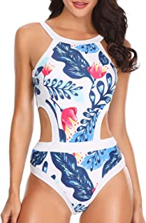 cupshe city of sky halter one-piece swimsuit