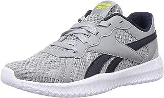 Reebok Boy's Flexagon Energy 2.0 Pure Grey 4/Hero Yellow/Collegiate Navy Training Shoes-3.5 UK (35 EU) (4 Kids US) (EH1633)