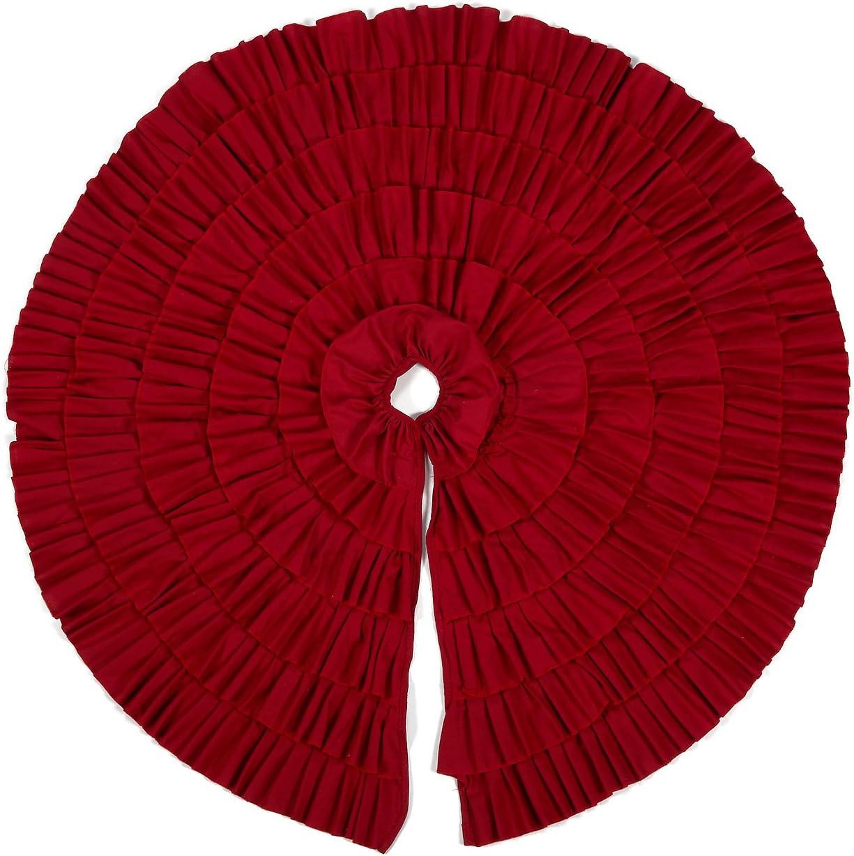 Christmas Tree Skirt - Circular Xmas Tree Decoration Fabric Chri