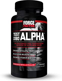Test X180 Alpha Total Testosterone Booster for Men with Fenugreek Seed and Maca Root to Increase Blood Flow, Build Lean Mu...