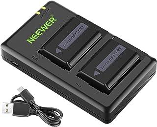 Neewer NP-FW50 - Juego de 2 Cargadores de batería con Puerto USB 1100 mA/h para cámara Sony A6000 A6500 A6300 A6400 A7 A7II A7RII A7S A7S2 A7R A7R2 A55 A5100 y RX102
