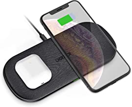 5 Coils Wireless Charger,CHOETECH 7.5W Dual Fast Wireless Charging Pad Compatible with Apple iPhone 11/11 Pro/11 Pro Max/XR/XS Max/XS/X/8/8 Plus, 10W for Galaxy Note 10/S10/Note 9/S9/S8/S8+, AirPods 2