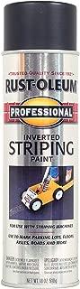 Rust-Oleum 2578838 Professional Stripe Inverted Striping Spray Paint, 18 oz, Black