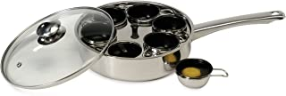 Excelsteel 18/10 Stainless 6 Non Stick Egg Poacher
