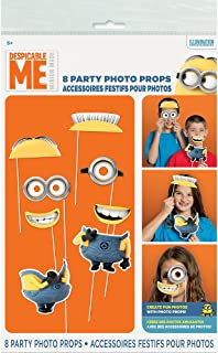 Despicable Me Minions Photo Booth Props, 8pc