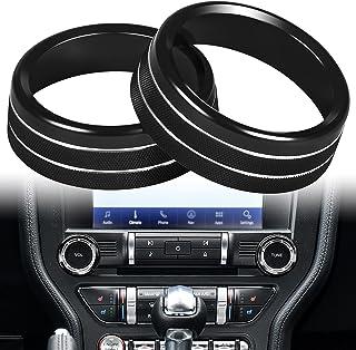 LAIKOU Aluminum Center Console Volume & Tune Knob Cover Sporty Decoration Ring Trim Interior Accessories for 2015-2021 For...